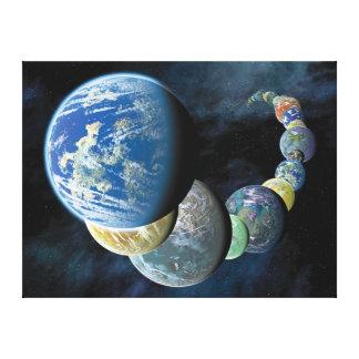 Merkwürdiger neuer Weltalien-PlanetMontage Leinwanddruck