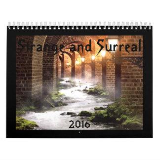 Merkwürdiger und surrealer Kalender 2016