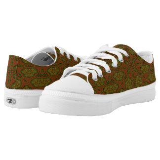 merkwürdiges buntes einzigartiges Muster Niedrig-geschnittene Sneaker