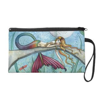 Mermaid Fantasy Art Wrist Clutch Bag Purse