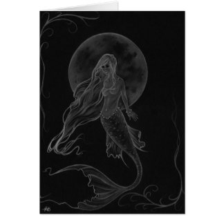 Mermaid Moon Mermaid Fantasy Art Card Grußkarte
