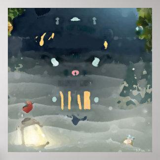 Merry Christmas_bird Poster