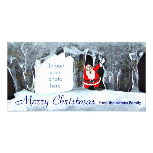 Merry Christmas Icicles Carte Avec Photo