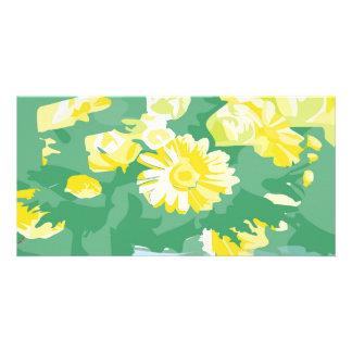 Message de Goodluck avec des fleurs Photocarte Personnalisée