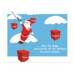 Message de Père Noël Carte Postale