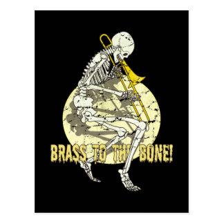 Messing zum Knochen Postkarte