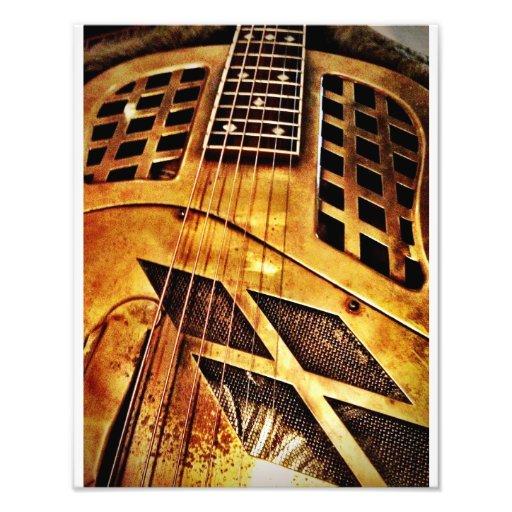 Messingartige Blues-Gitarre Photographien
