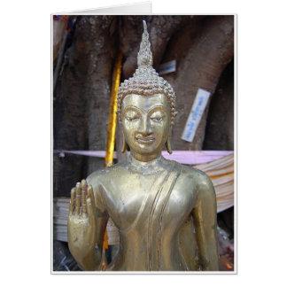 Messingbuddha Karte
