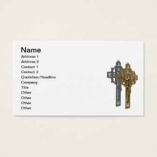 Messingkruzifix Visitenkarte