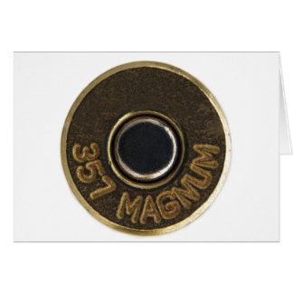 MessingMuschelgehäuse mit 357 Magnum Karte