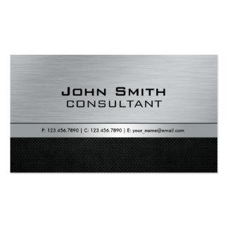 Métal argenté noir moderne élégant professionnel carte de visite standard