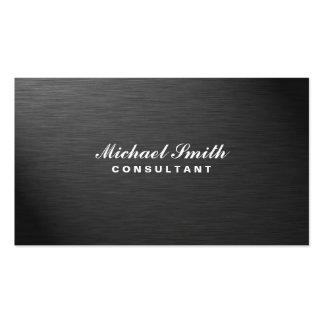 Métal simple noir moderne élégant professionnel carte de visite standard