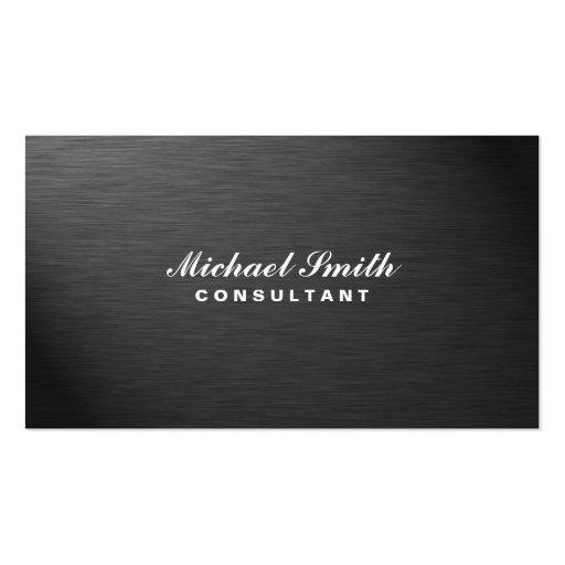Métal simple noir moderne élégant professionnel modèles de cartes de visite