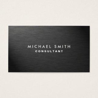 Métal simple noir moderne élégant professionnel cartes de visite
