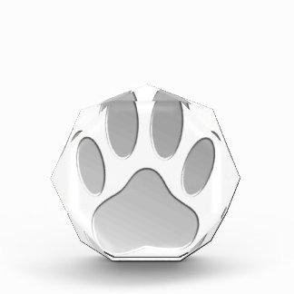 Metall-Blick Hundetatzen-Druck Acryl Auszeichnung