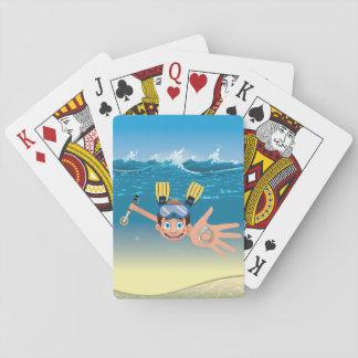 Metall, das in Wasser-Spielkarten ermittelt Spielkarten