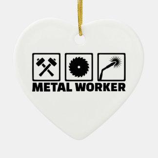 Metallarbeitskraft Keramik Herz-Ornament