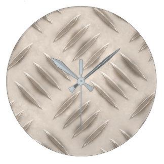 Metallblick-runde (große) Wanduhr