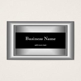 Metallchrom-elegantes schwarzes u. weißes visitenkarte