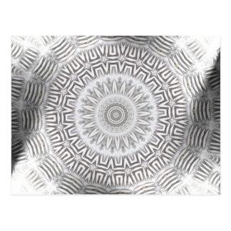 METALLelement Kaleido Muster Postkarte