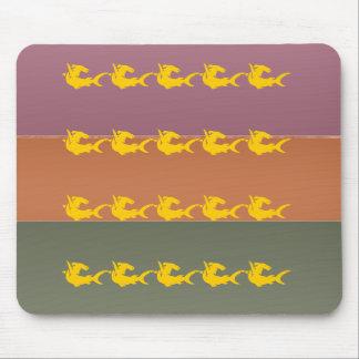 Metallendfarbstreifen - Ozean-Fisch Mousepad