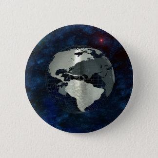 Metallerdkugel Runder Button 5,1 Cm