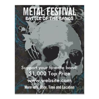 Metallfestival-Musik-Flyer
