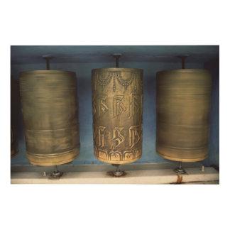 Metallgebets-Räder Holzdruck