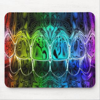 Metallglühen farbiger Zahn-Biss-Zahnarzt Mousepad