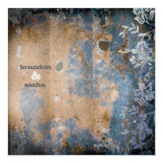 Métallique d'or rustique de la CHROMATOGRAPHIE Carton D'invitation 13,33 Cm