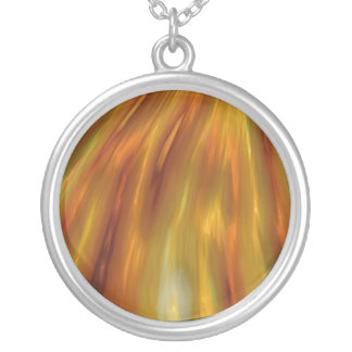 Metallische bernsteinfarbige Wellen des Kornes Versilberte Kette