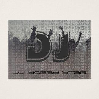 Metallische Geschäftskarte cooler DJ-Initialen Visitenkarte