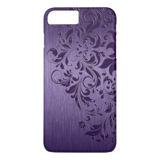 Metallische lila gebürstete lila Aluminiumspitze iPhone 7 Plus Hülle