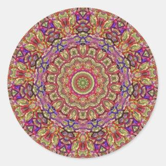 Metallische Mandala-klassischer runder Aufkleber
