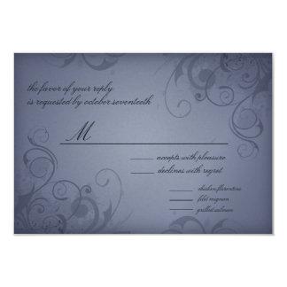 Metallische Wedding Response/RVSP Karte des 8,9 X 12,7 Cm Einladungskarte