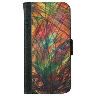 Metallischer abstrakter Entwurf iPhone 6/6s Geldbeutel Hülle Für Das iPhone 6/6s