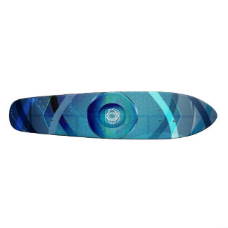 Metallischer BlumeSkateboard 18,7 Cm Mini Skateboard Deck