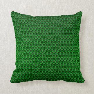Metallischer grüner kissen
