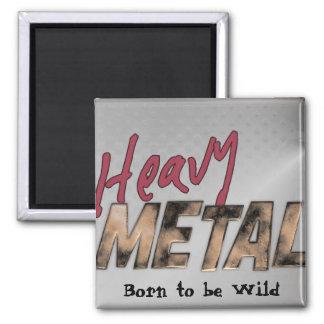 Metallischer Schwermetallentwurf Quadratischer Magnet