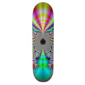 Metallisches Blick-Fraktal Design Skateboardbrett