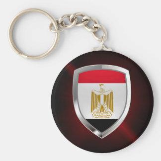 Metallisches Emblem Ägyptens Standard Runder Schlüsselanhänger