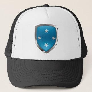 Metallisches Emblem Mikronesiens Truckerkappe