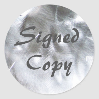 Metallisches Foto und Grau unterzeichnete Kopie Runder Aufkleber