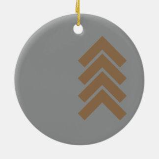 Metallisches Zickzack Rundes Keramik Ornament