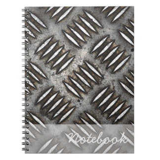 Metallplattennotizbuch Spiral Notizbuch