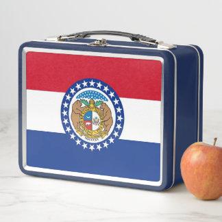 Metallrostfreier Lunchbox mit Missouri-Flagge