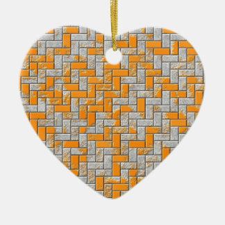 Metallrostige Oberflächenillustration Keramik Herz-Ornament