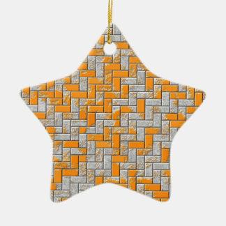 Metallrostige Oberflächenillustration Keramik Stern-Ornament