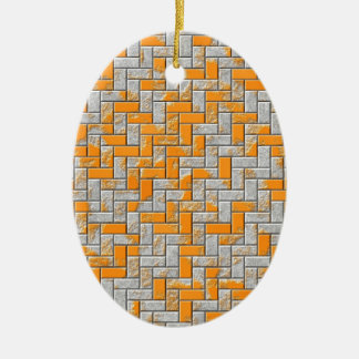 Metallrostige Oberflächenillustration Ovales Keramik Ornament