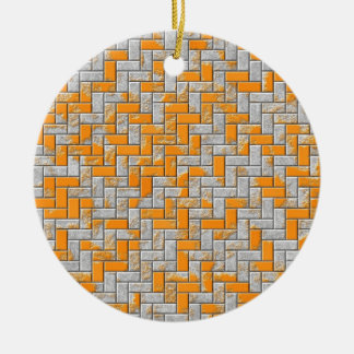 Metallrostige Oberflächenillustration Rundes Keramik Ornament